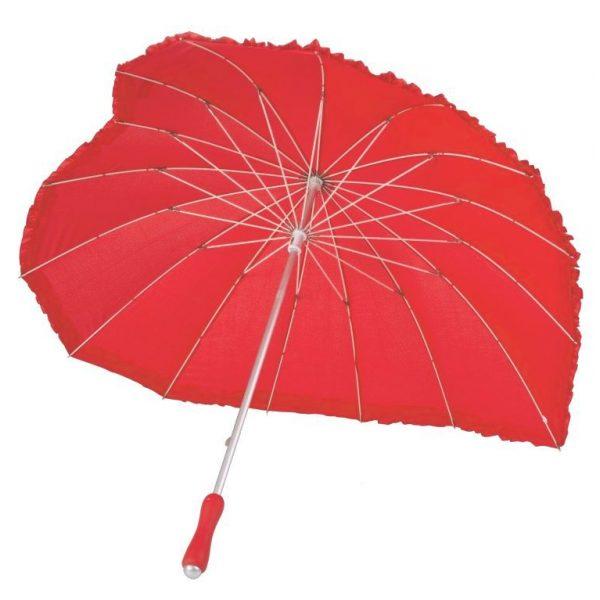 Herz Regenschirm Rot-3287