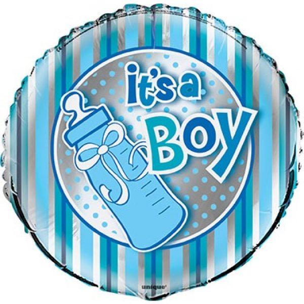 It's a Boy Folienballon Junge Blau 45 cm-0