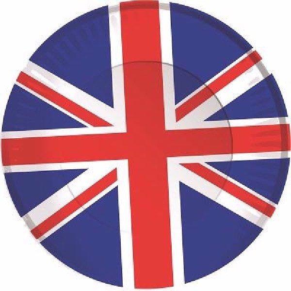 8 Pappteller UK Great Britian Party -0