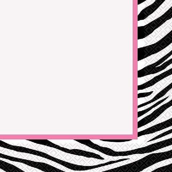 16 Servietten Wild Zebra Geburtstag Party-0
