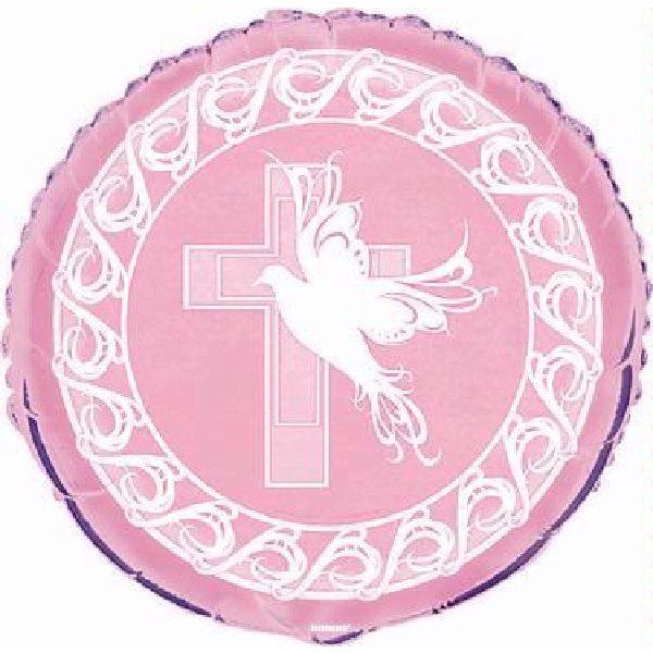 Pink Taufe Folienballon 45 cm-0