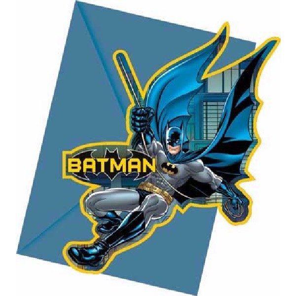 6 Batman Einladungen-0