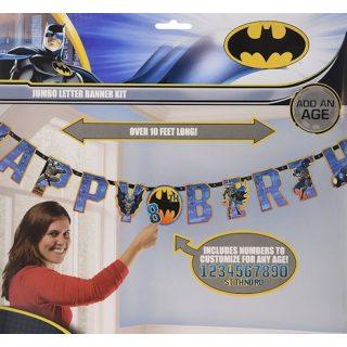 XL Batman Happy Birthday Banner Jumbo Buchstaben Add-an-Age-0