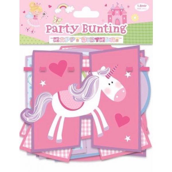 Happy Birthday Girlande Fee Prinzessin Party-0