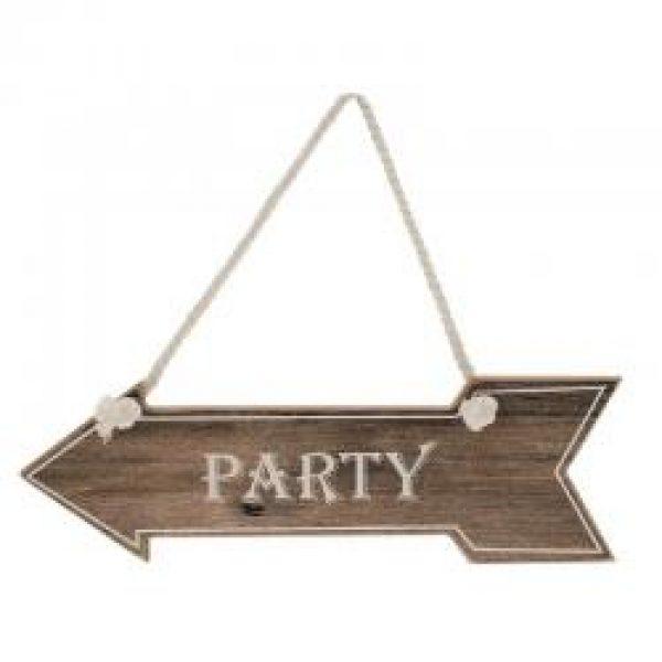 """""""Party"""" Schild Wegweiser Braun-0"""