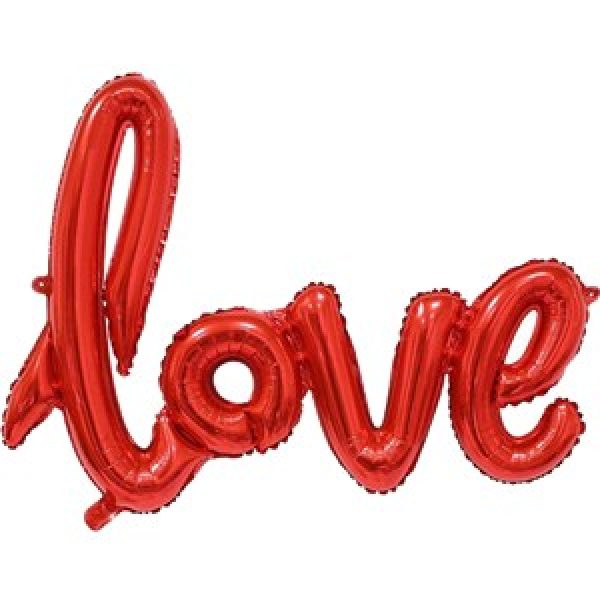 """Love"" Rote Schrift Folienballon-0"