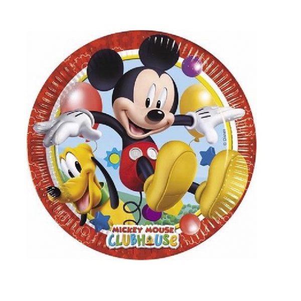 8 Mickey Maus Kleine Pappteller 20 cm-0