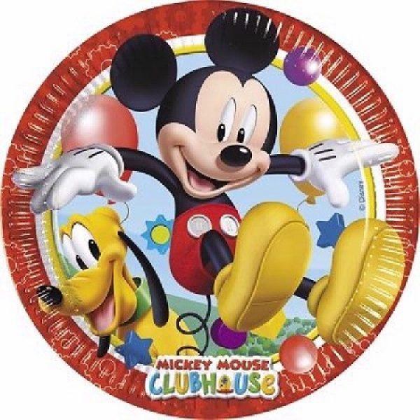 8 Mickey Maus Pappteller 23 cm-0