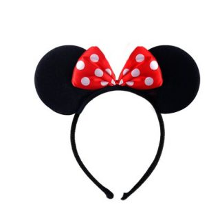 Schwarze Maus Ohren mit Schleife-0