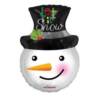Let It Snowman Weihnachten Folienballon 45 cm -0