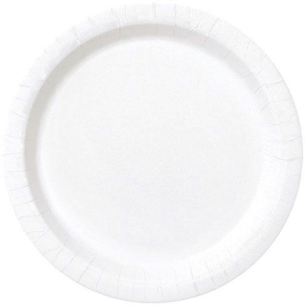 16 Runde Pappteller Weiß 23 cm-0