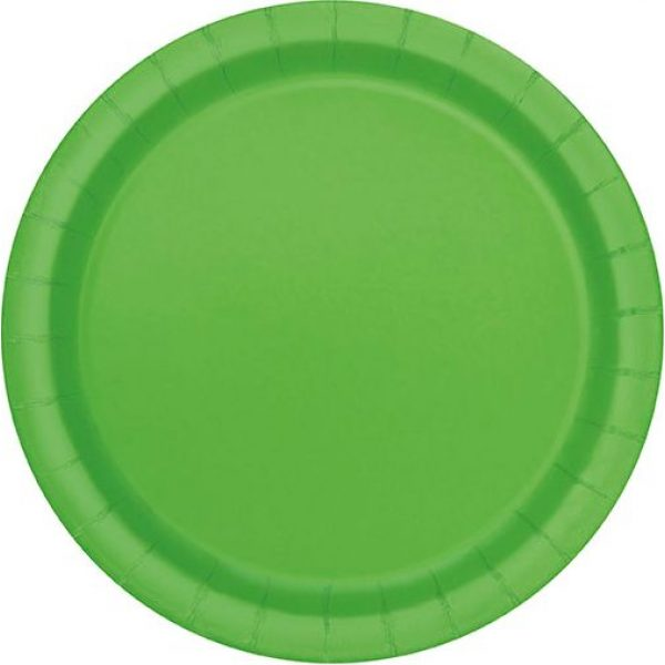 16 Runde Pappteller Lime Grün 23 cm-0