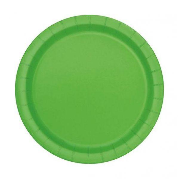 20 Runde Pappteller Lime Grün 18 cm-0