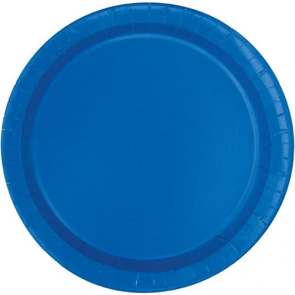16 Runde Pappteller Blau 23 cm-0