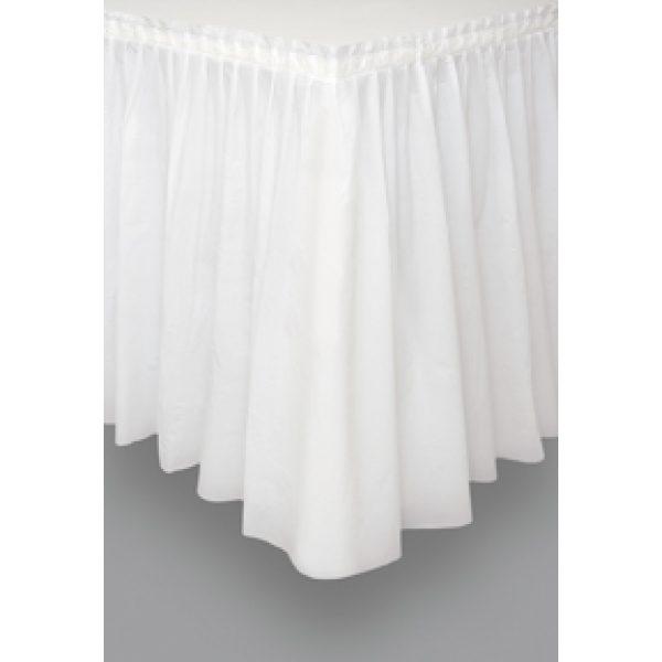 Weisse Tischschürze -0
