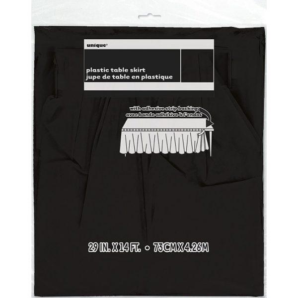 Schwarze Tischschürze -3939