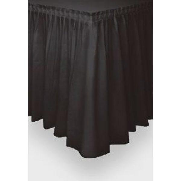 Schwarze Tischschürze -0