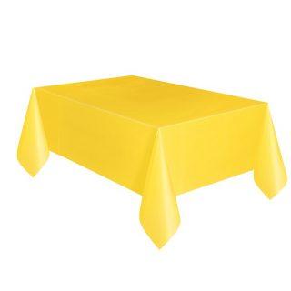 Gelbe Tischdecke -0