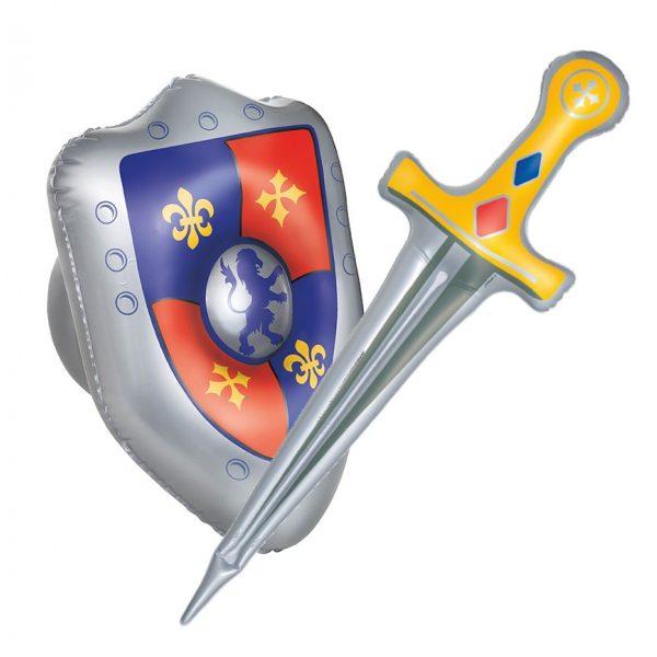 Aufblasbares Schwert & Schild für Ritterspiele-0