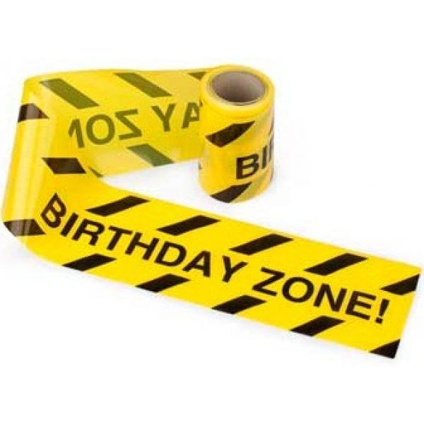 """Baustellen Absperrband """"Birthday Zone"""" -0"""