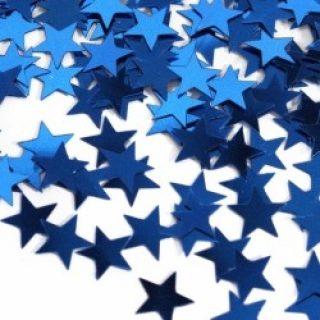 Blau Stern Konfetti-0