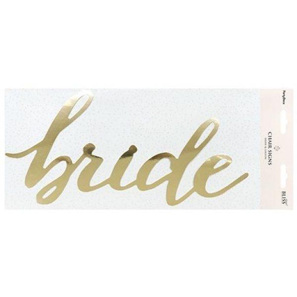 Bride & Groom Schilder Gold Buchstaben-3849