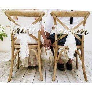 Bride & Groom Schilder Gold Buchstaben-0