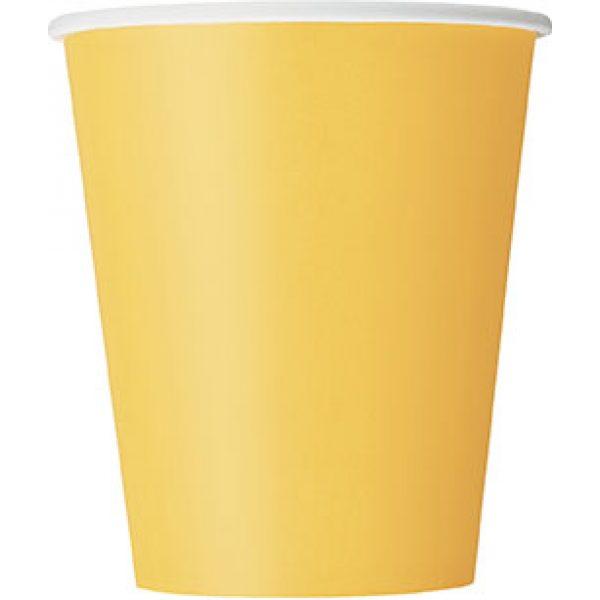 14 Pappbecher Gelb -0