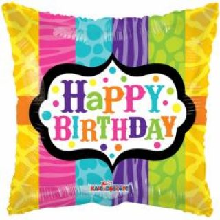 Happy Birthday Buntes Kissen Folienballon 45 cm-0
