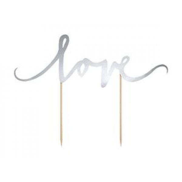 Silber Love Tortenpicker -3843