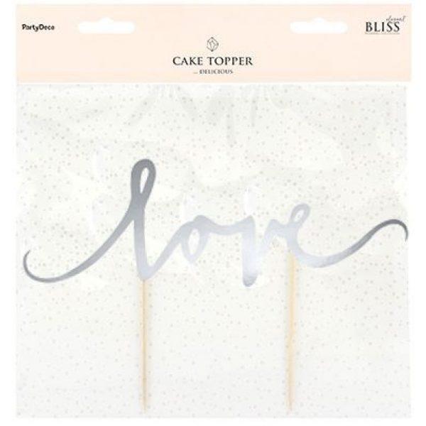 Silber Love Tortenpicker -3844