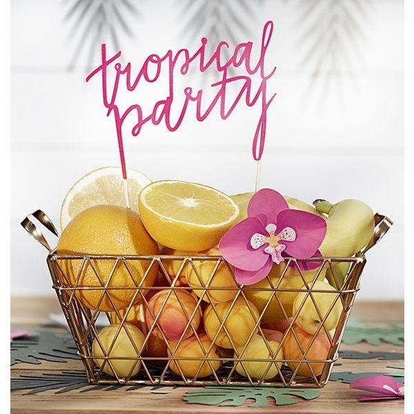 """Tropical Party"" Torten Picker Cake Topper-0"