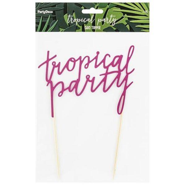"""Tropical Party"" Torten Picker Cake Topper-3807"