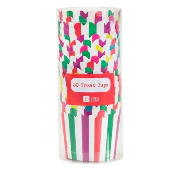 20 Regenbogen Treat & Muffin Cups -4095