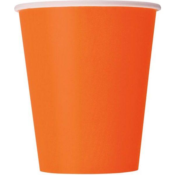 14 Pappbecher Orange-0
