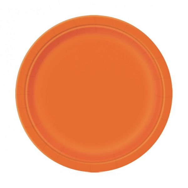 20 Runde Pappteller Orange 18 cm-0