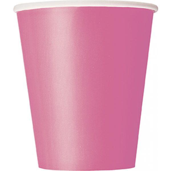 14 Pappbecher Pink-0