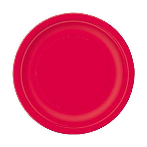20 Runde Pappteller Rot 18 cm-0