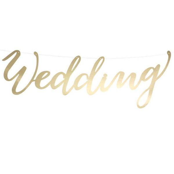 Wedding Banner in Gold Schrift-0