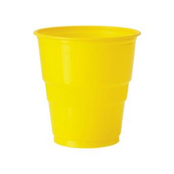 12 Plastikbecher Gelb-0