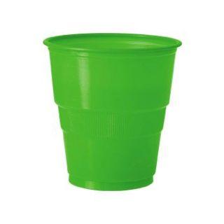 12 Plastikbecher Grün-0