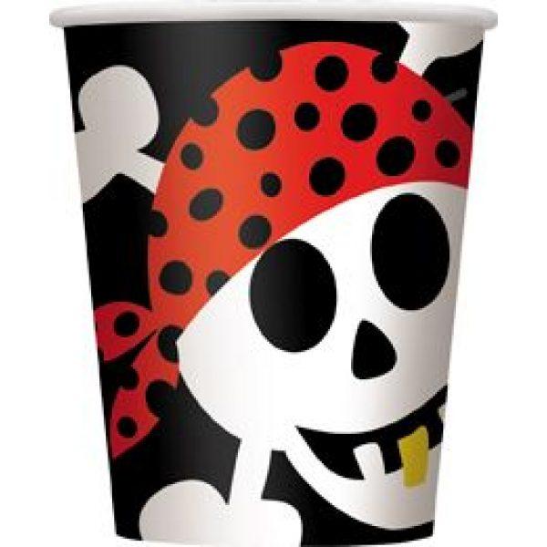 8 Pirat Ahoi Pappbecher-0