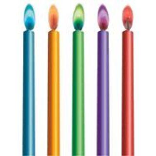 10 Color Flames Farbflammen Tortenkerzen -0