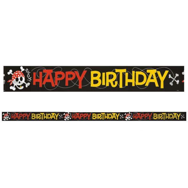 Happy Birthday Pirat Geburtstagsbanner -4334