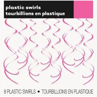 8 Spiraldeko Pink Swirl-Deko Hängedekoration-0