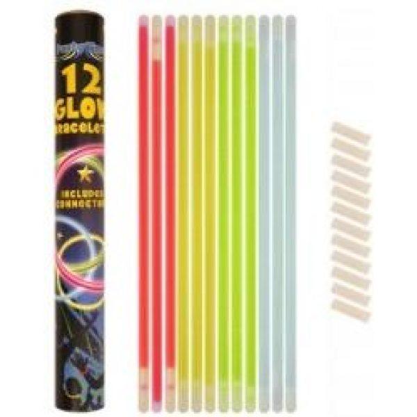 12 Farbige Leuchtarmbänder-0