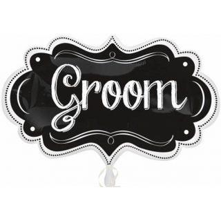 Groom Folienballon Supershape Kreidetafel Chalkboard Look 86 cm-0