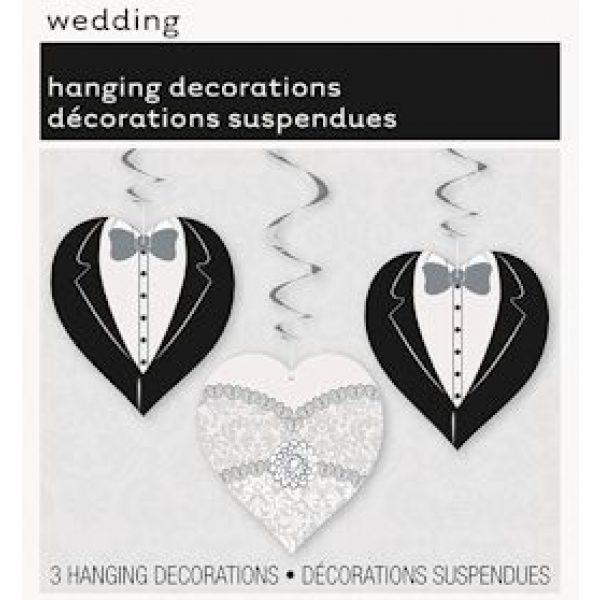 3 Hochzeit Herz Spiraldeko Braut & Bräutigam-0