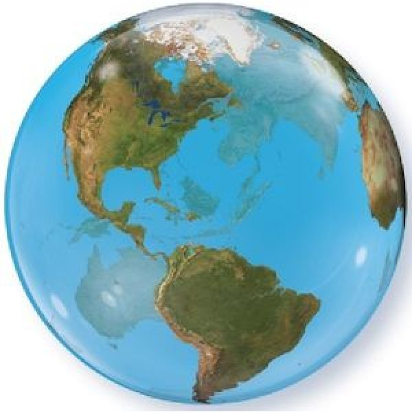 Hellium-Bubble Erdkugel Ballon Planet Earth 55 cm-0