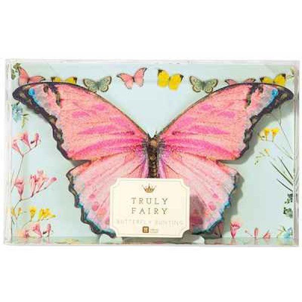 3D Truly Fairy Schmetterlinge Girlande -4550